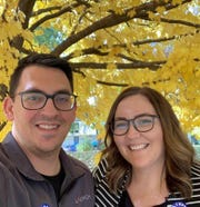 Christopher and Katie Kensinger are both educators. They decided to downsize when they made the move from Branson to Springfield.