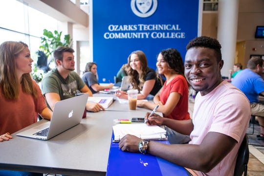 Igho Ekakitie will graduate this month from Ozarks Technical Community College.