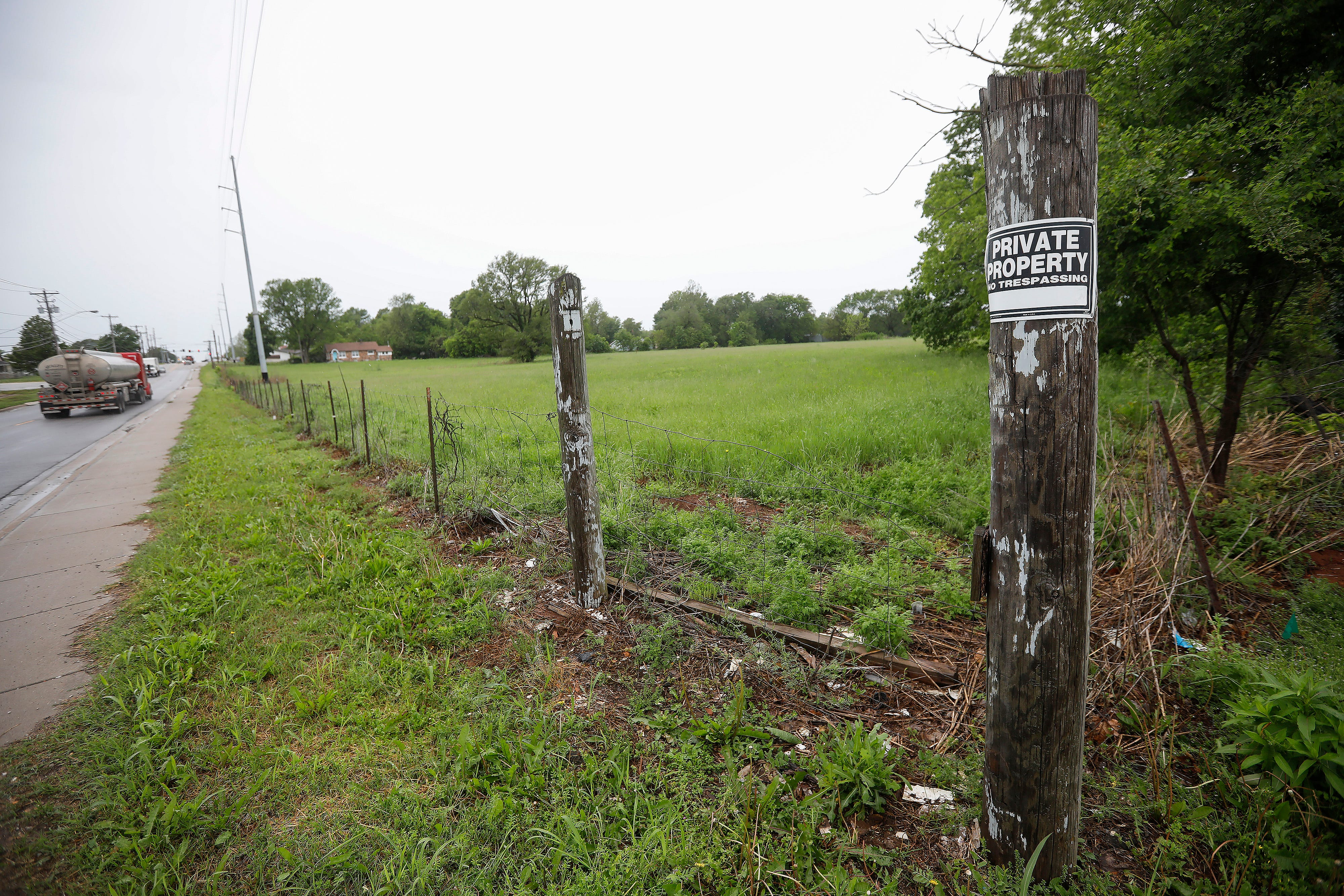 Opponents of Eden Village II say that the area near the intersection of Division Street and O'Hara Avenue is prone to flooding.