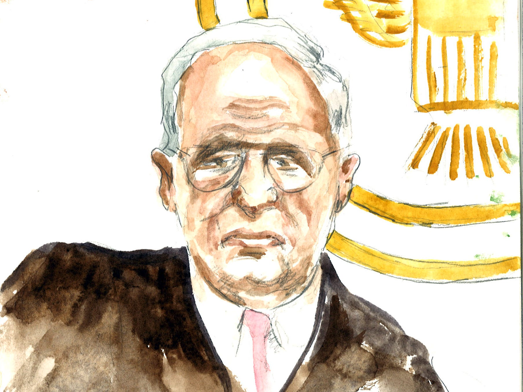 Judge C. Stampelos in federal court Thursday.
