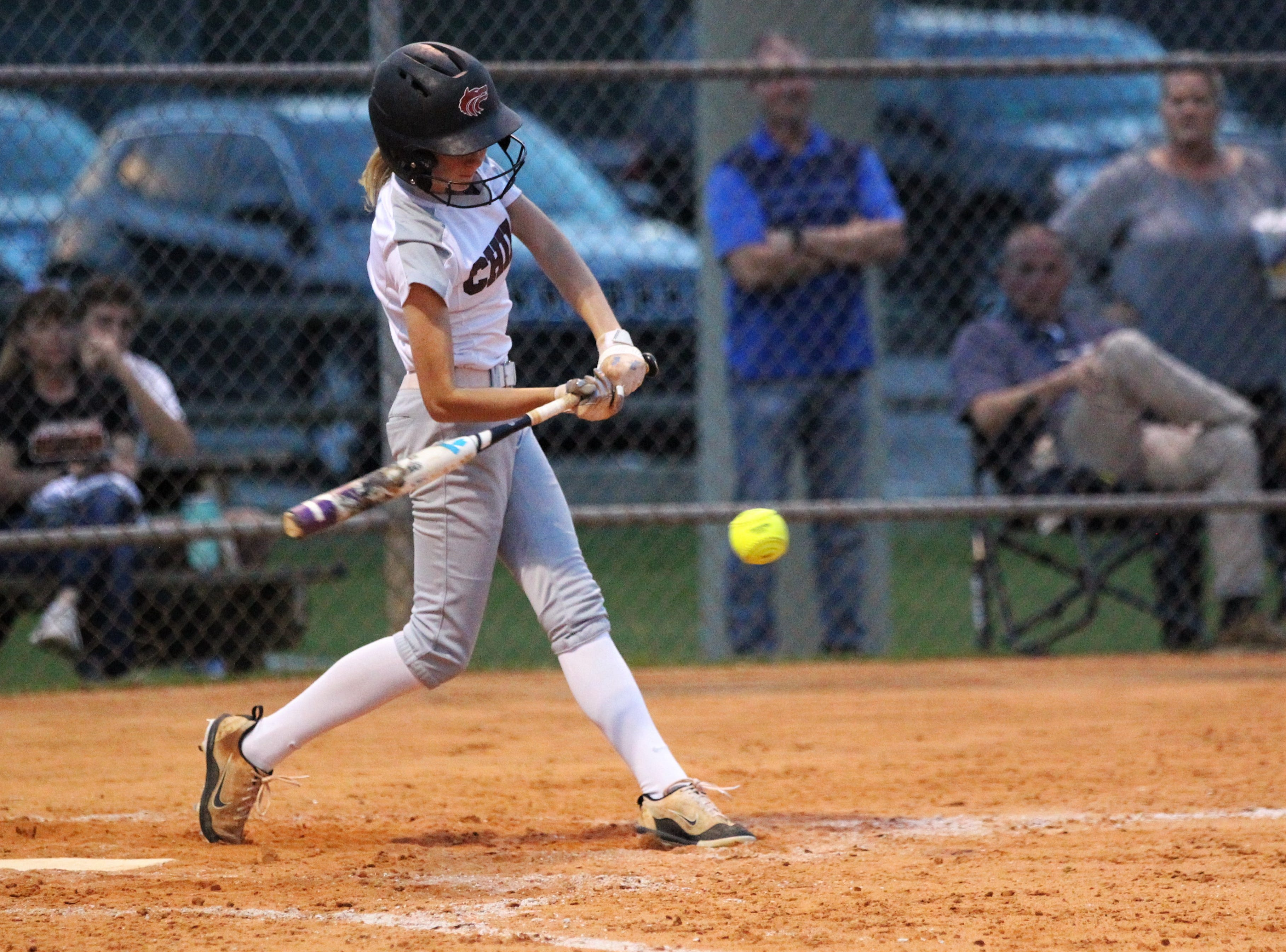 Chiles sophomore Izabella Howard bats as the Timberwolves beat Atlantic Coast 6-4 during a Region 1-8A quarterfinal softball game on Wednesday, May 8, 2019.