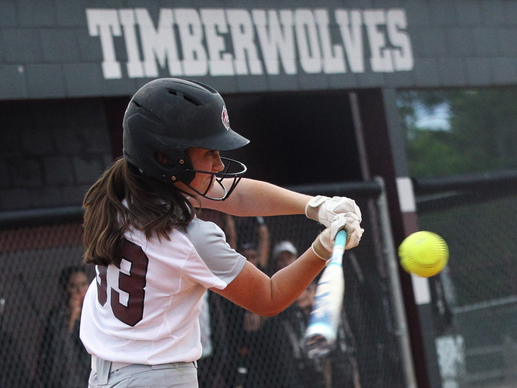 Chiles sophomore Meghan Lucas bats as the Timberwolves beat Atlantic Coast 6-4 during a Region 1-8A quarterfinal softball game on Wednesday, May 8, 2019.