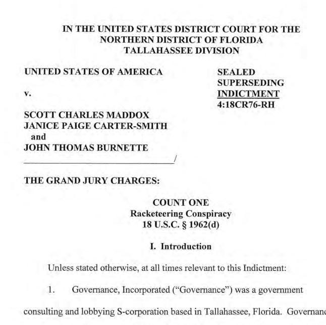 Read the FBI's indictment of J.T. Burnette | Document
