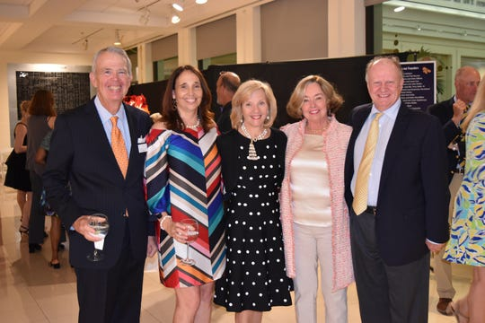 Ray Oglethorpe, left, Barbara Hammond, Nell Kleinschmidt, Maryann Kann and George Cook at the 2019 Gala for The Learning Alliance at the Vero Beach Museum of Art.