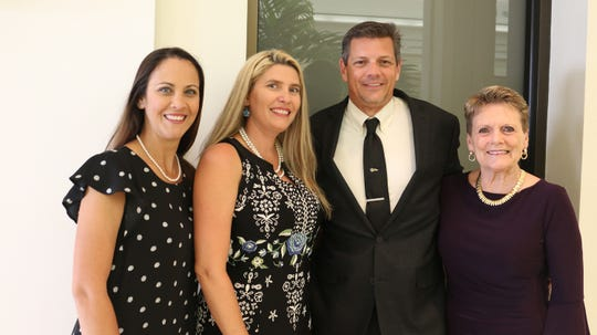 Jenn Norris, left, Casandra Flores, Chris Kohlstedt and Fran Adams at the 2019 Gala for The Learning Alliance at the Vero Beach Museum of Art.
