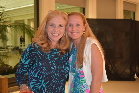 Kelly Baysura, left, and Lyndsey Matheny at the 2019 Gala for The Learning Alliance at the Vero Beach Museum of Art.