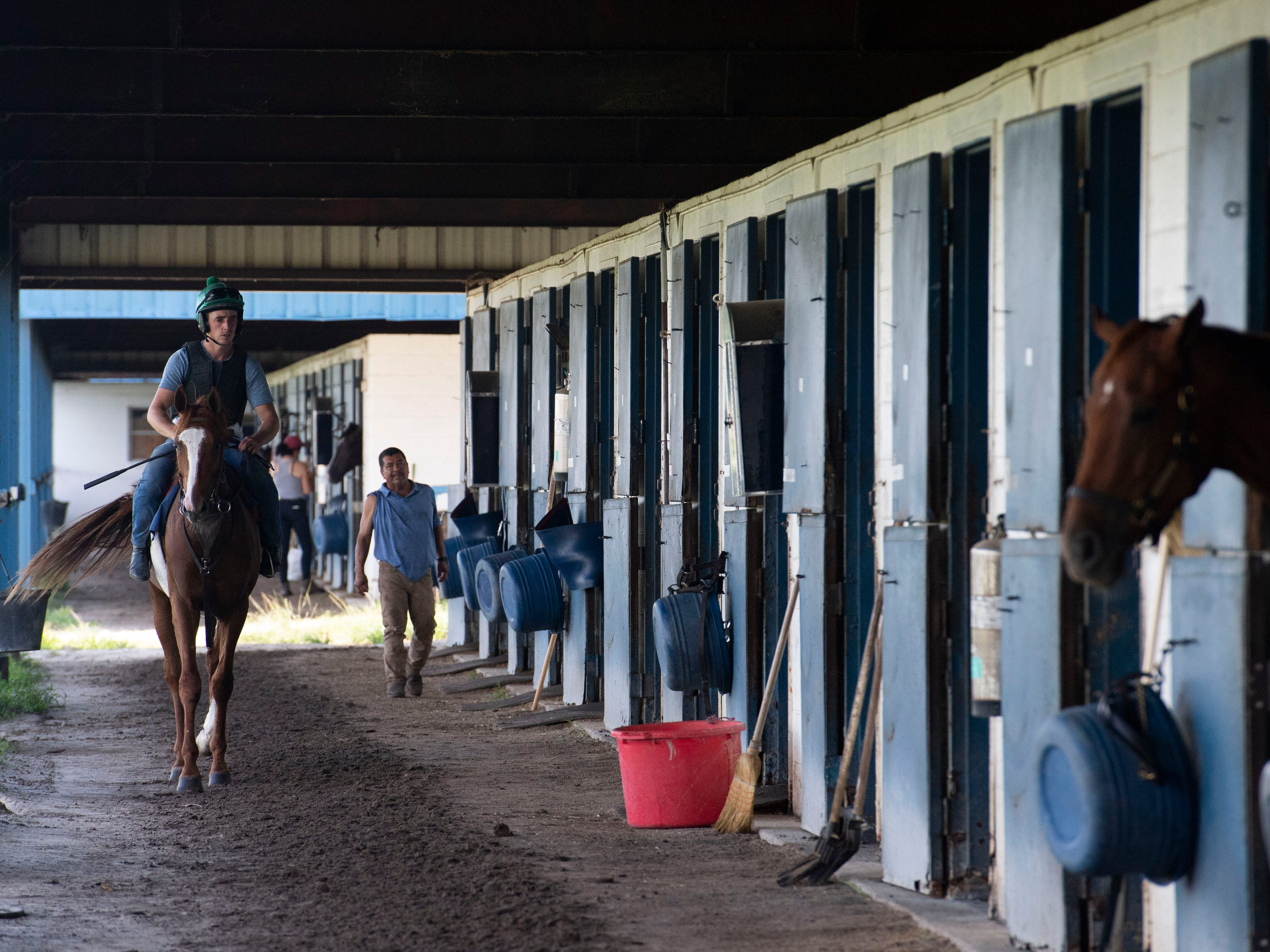 The Payson Park Training Facility, seen Thursday, May 9, 2019, is a nearly 400-acre property that offers horse trainers a one-mile dirt track, one-mile turf track and five miles of English hacking trails. About 500 horses get trained on the property throughout the winter months, and this year's group included Country House, Code of Honor and Tacitus, the top three finishers of the 145th Kentucky Derby.