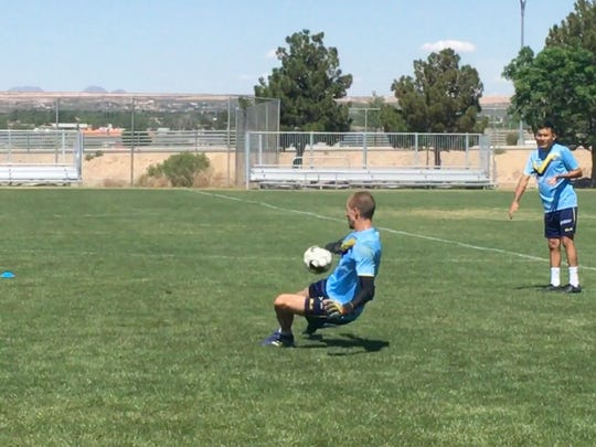 El Paso Locomotive keeper Logan Ketterer is second in the USL in clean sheets (shutouts) with five.
