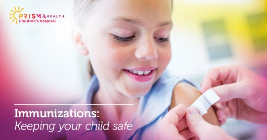 Your child's pediatrician wants what's best for your whole family. Learn more about PRISMA health's immunization recommendations to keep your child safe.