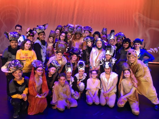 """The Vineland All Middle School Productions cast of """"The Lion King Jr."""" traveled to Bucks County Playhouse in Pennsylvania on May 5 to perform a selection from their spring musical for BCP's annual Best of Fest."""
