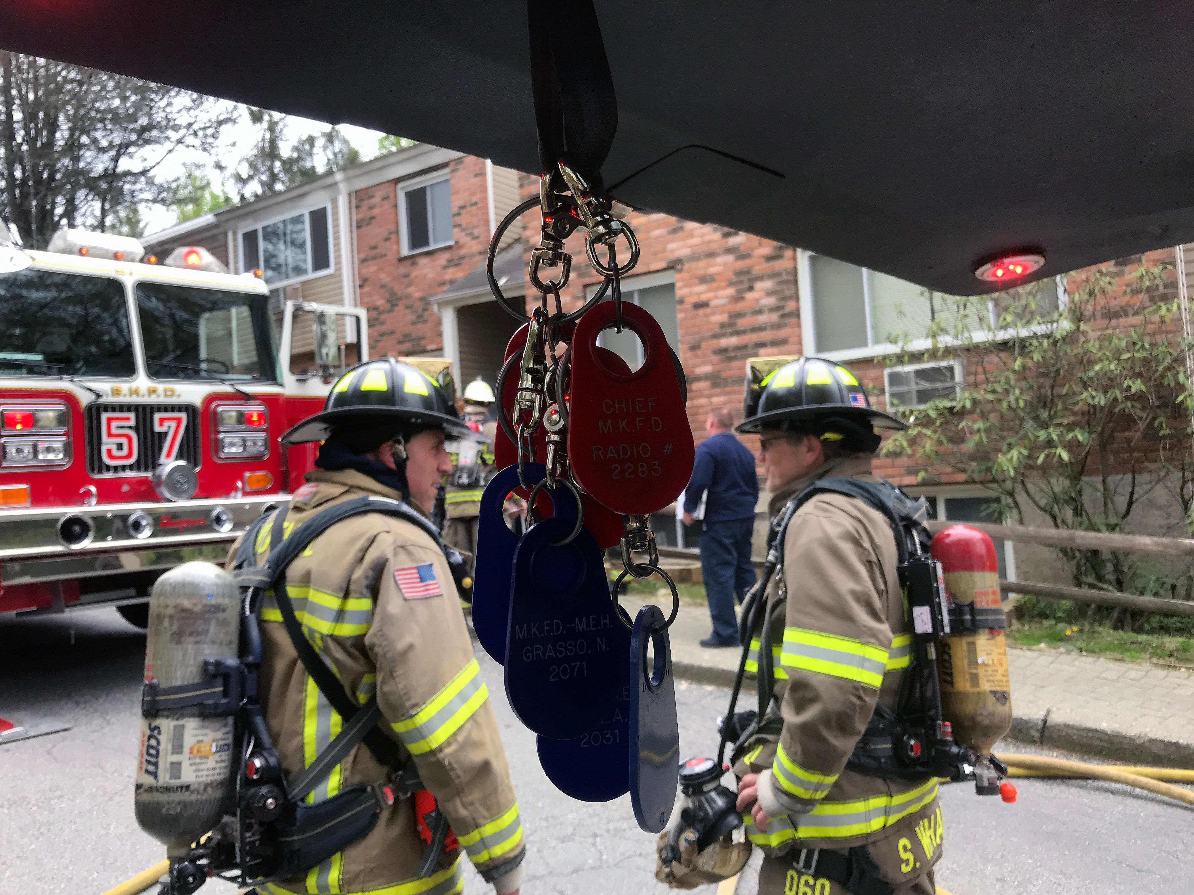 Bedford Hills firefighters quickly extinguished a fire in an apartment on Rome Avenue in Bedford Hills May 9, 2019. Firefighters from Katonah and Mt. Kisco assisted at the scene.