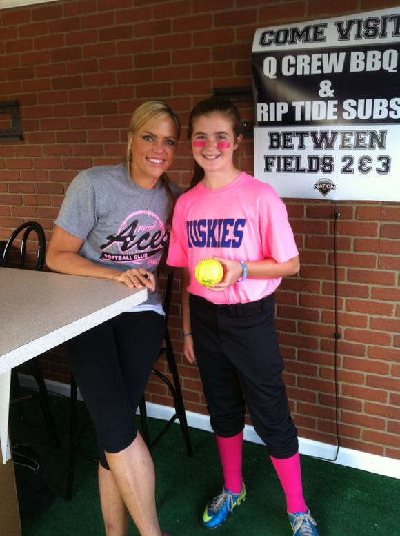 Legendary softball pitcher Jennie Finch praised Mahopac's Shannon Becker on social media following Becker's all-strikeout perfect game on May 8, 2019. Finch is one of Becker's idols and took a picture with her when Becker was a child.