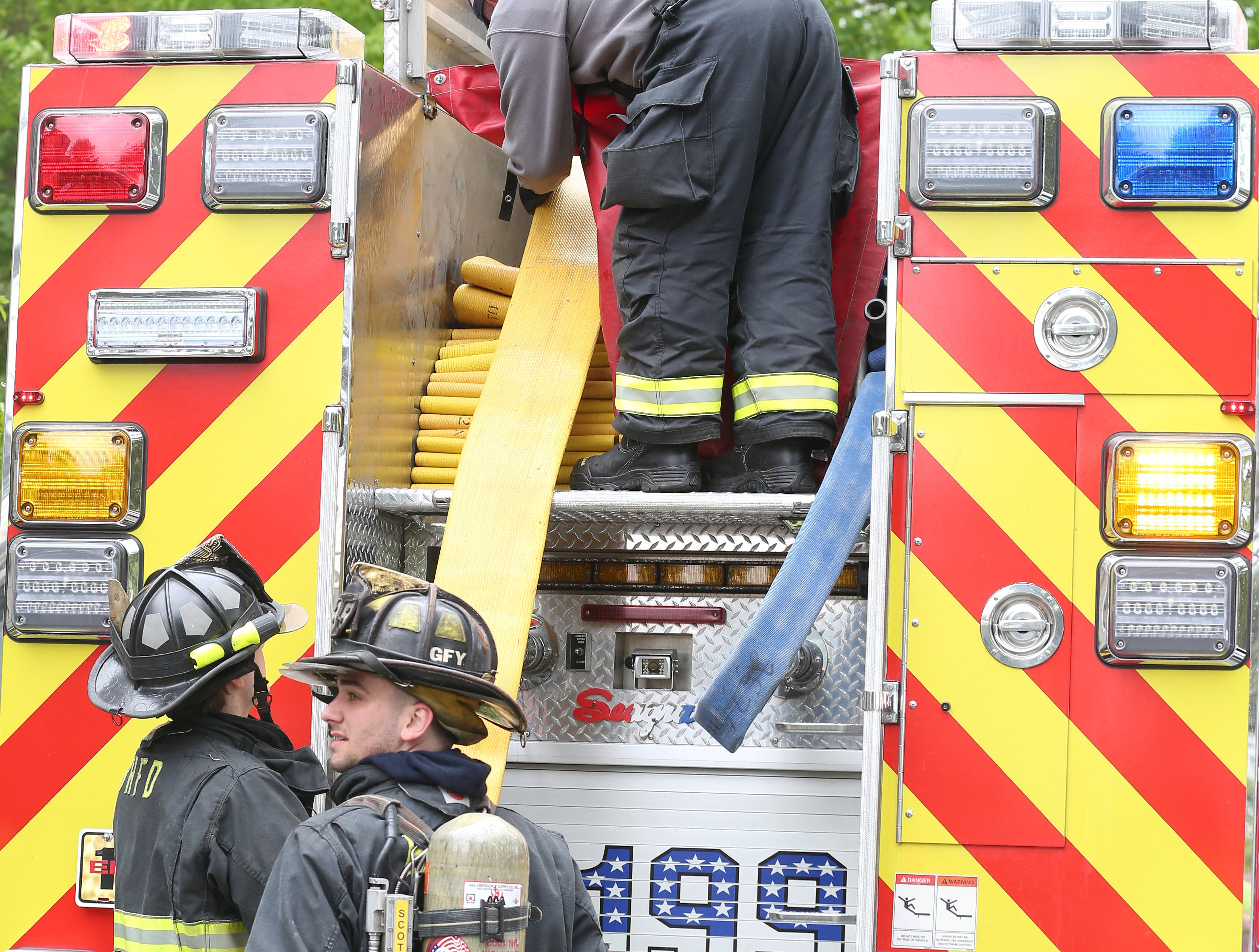 Bedford Hills firefighters quickly extinguished a fire in an apartment on Rome Avenue in Bedford Hills May 9, 2019. Firefighters from Katonah, Mt. Kisco assisted at the scene.