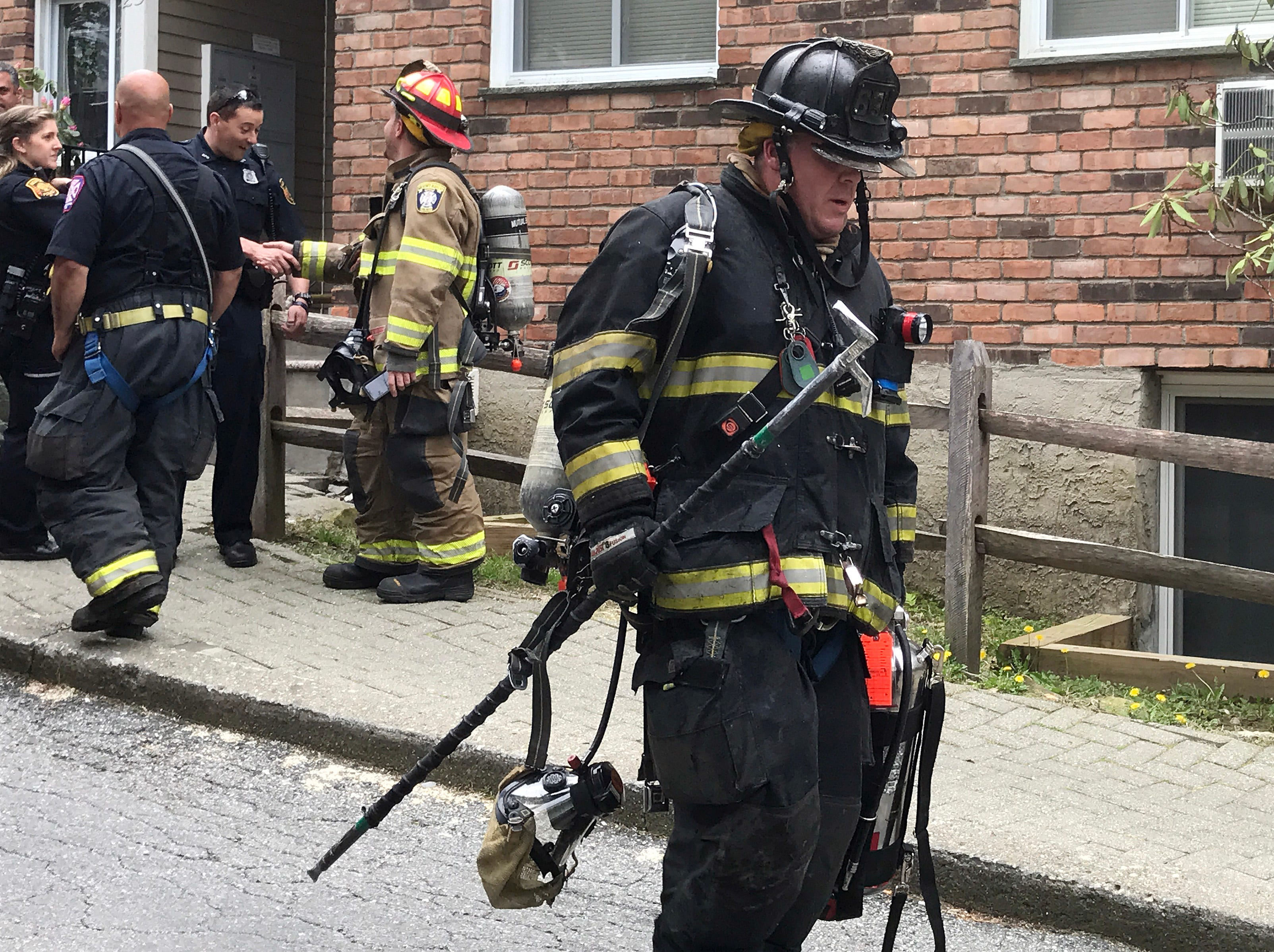 Bedford Hills firefighters quickly extinguished a fire in an apartment on Rome Avenue in Bedford Hills May 9, 2019. Firefighters from Katonahand  Mt. Kisco assisted at the scene.