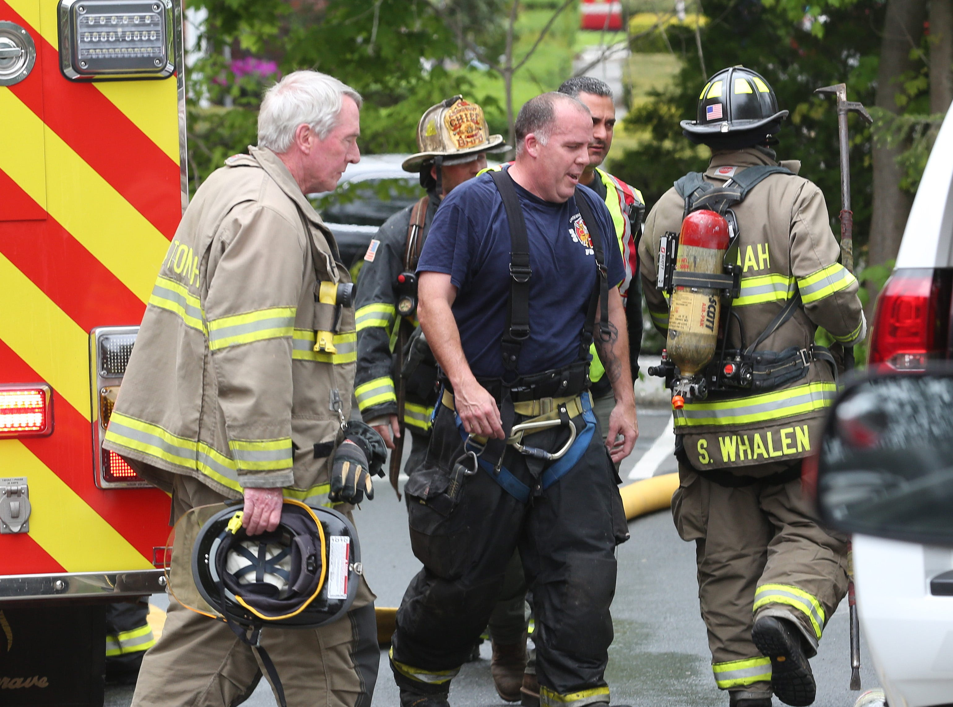 Bedford Hills firefighters quickly extinguished a fire in an apartment on Rome Avenue in Bedford Hills May 9, 2019. Firefighters from Katonah, and Mt. Kisco assisted at the scene.
