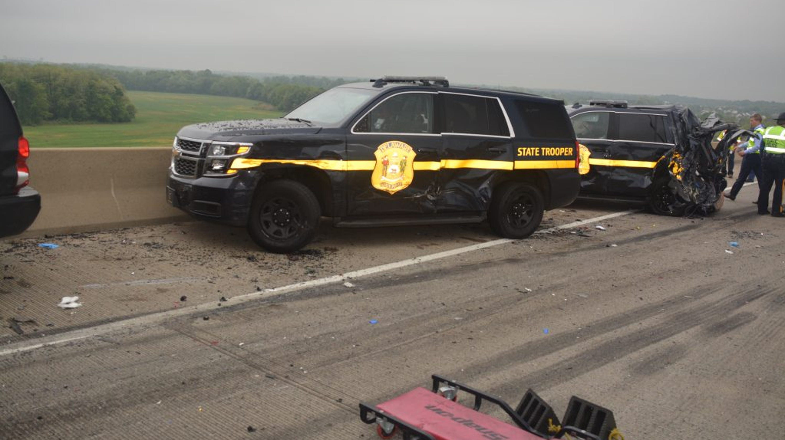 Truck Driver Ticketed After Crash Injures 2 Troopers Jams Traffic On Roth Bridge Wednesday