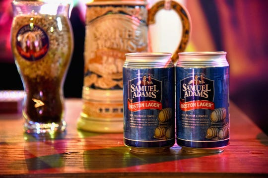 Samuel Adams beers on display at Food Network & Cooking Channel New York City Wine & Food Festival on Oct. 15, 2015 in New York City.
