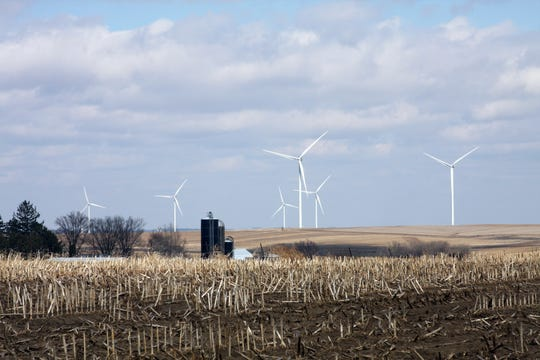 The turbines have become a part of dairy farmer Tim McComish's rural landscape in the town of Seymour in Lafayette County.