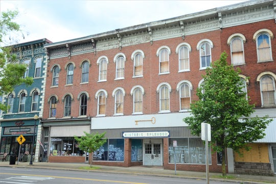 Three properties on the 600 block of Main Street are in disrepair. The city of Zanesville does not own the properties at 606, 608 and 610 Main St., but remains concerned due to the deteriorating conditions.