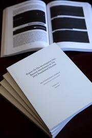 Special counsel Robert Mueller's redacted report.