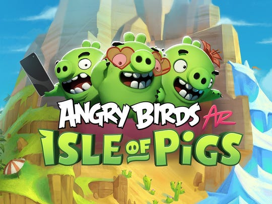 All of Rovio's Angry Birds mobile games are try-before-you-buy 'freemium' games, meaning you have a choice to pay in-game for extras – but it's optional. The latest is 'Angry Birds AR: Isle of Pigs,' which leverages augmented reality technology.