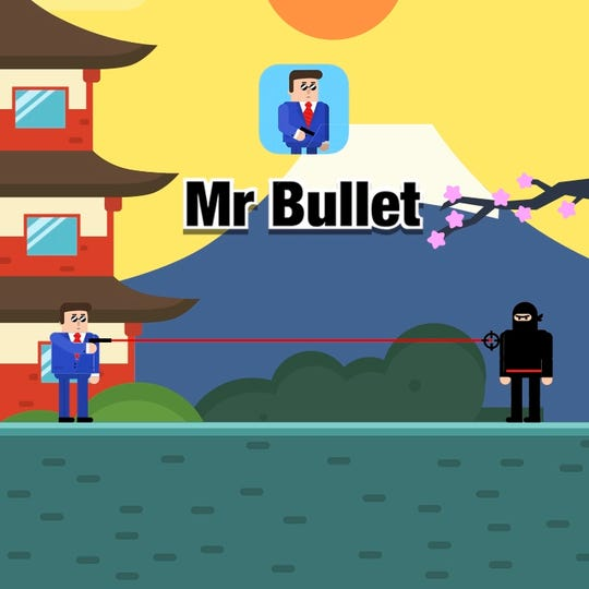 "Many popular mobile games such as 'Mr Bullet' from Lion Studios, shown here, are monetized mostly through advertisements, as well as in-game purchases called ""microtransactions."""