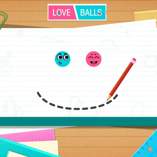 "Many popular mobile games such as 'Love Balls' from Lion Studios, shown here, are monetized mostly through advertisements, as well as in-game purchases called ""microtransactions."""