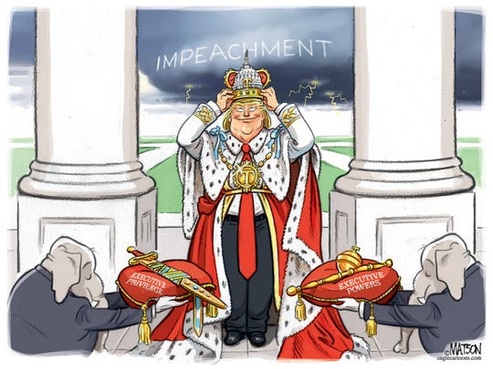 Trump Crowns Himself King