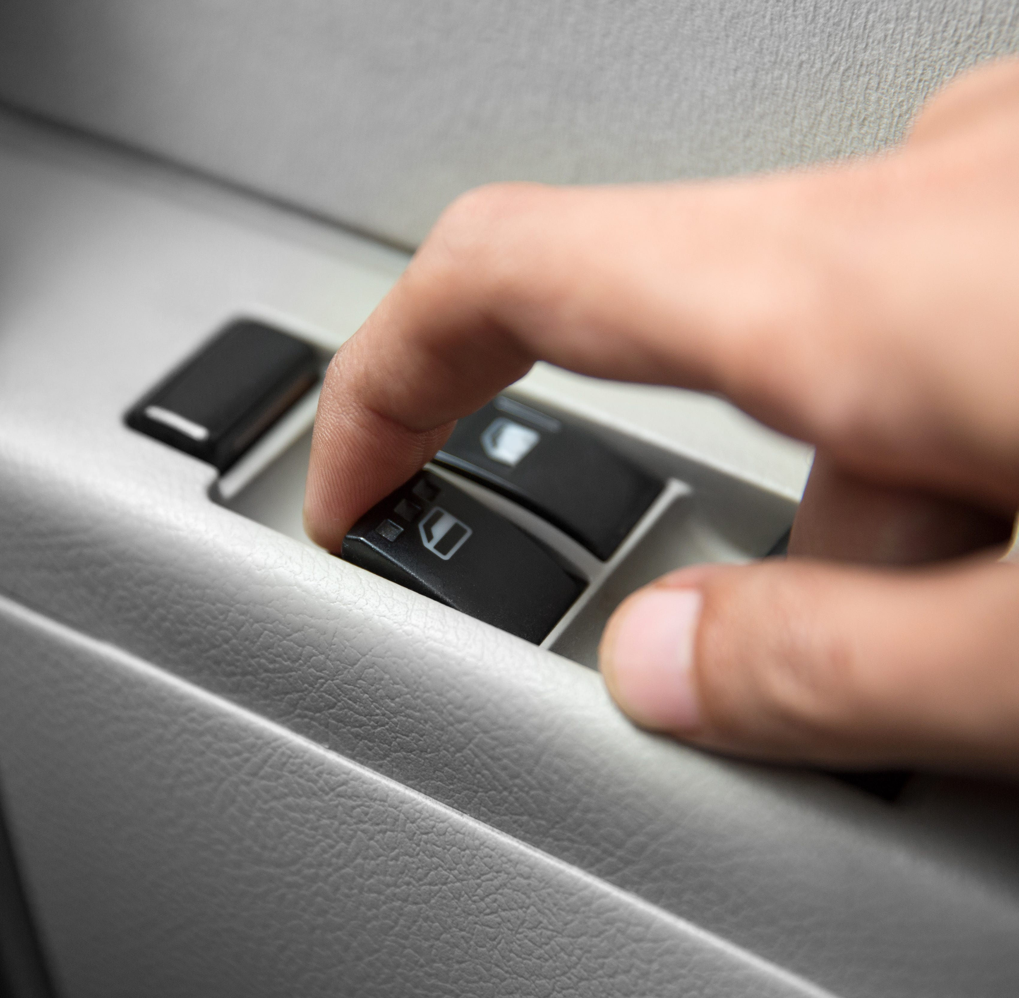 According to a Netquote study, the most germs on rideshare vehicles are on the window buttons and seat belts.