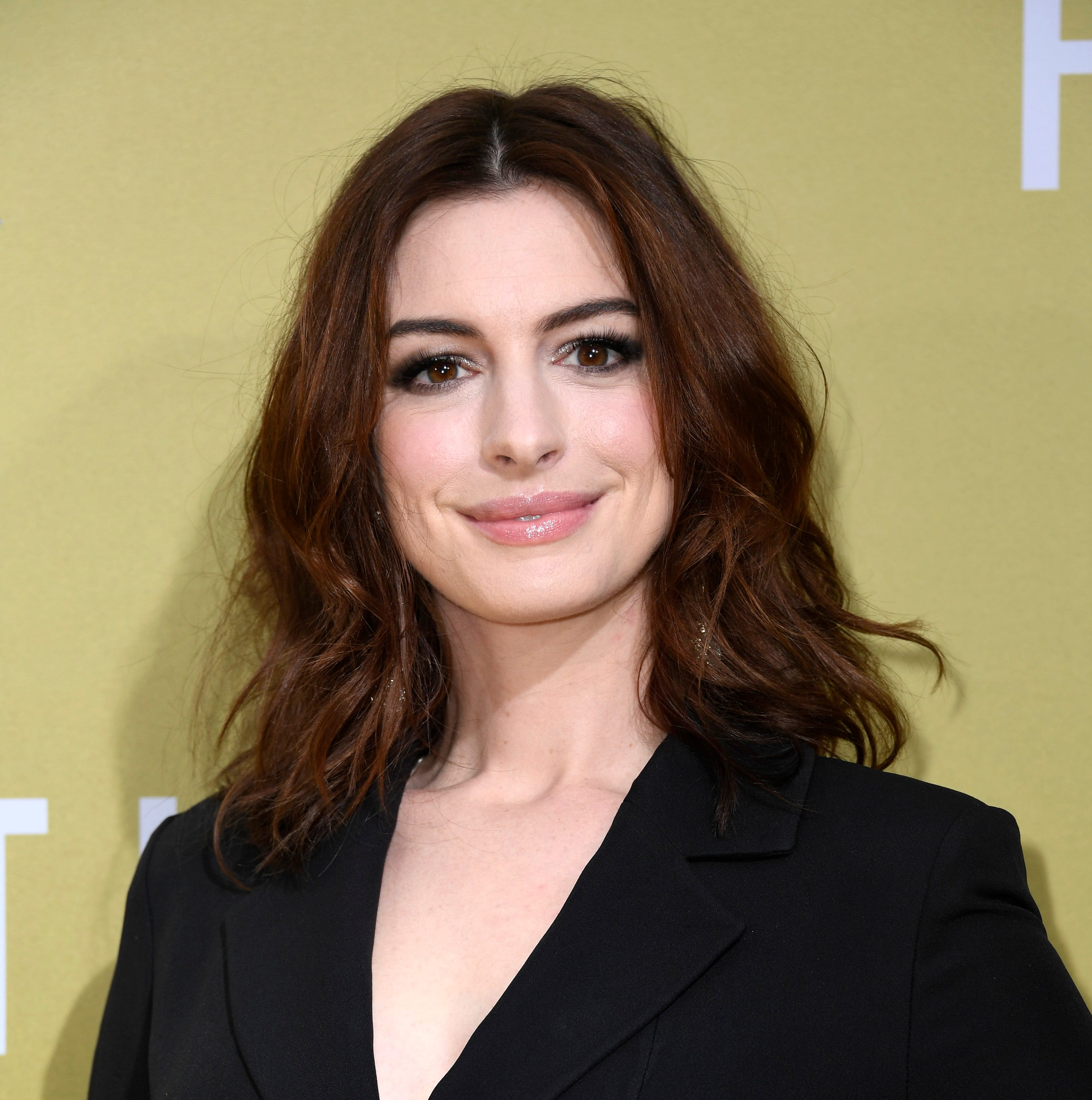 "Anne Hathaway attends the premiere of MGM's ""The Hustle"" at ArcLight Cinerama Dome on May 08, 2019 in Hollywood, California."