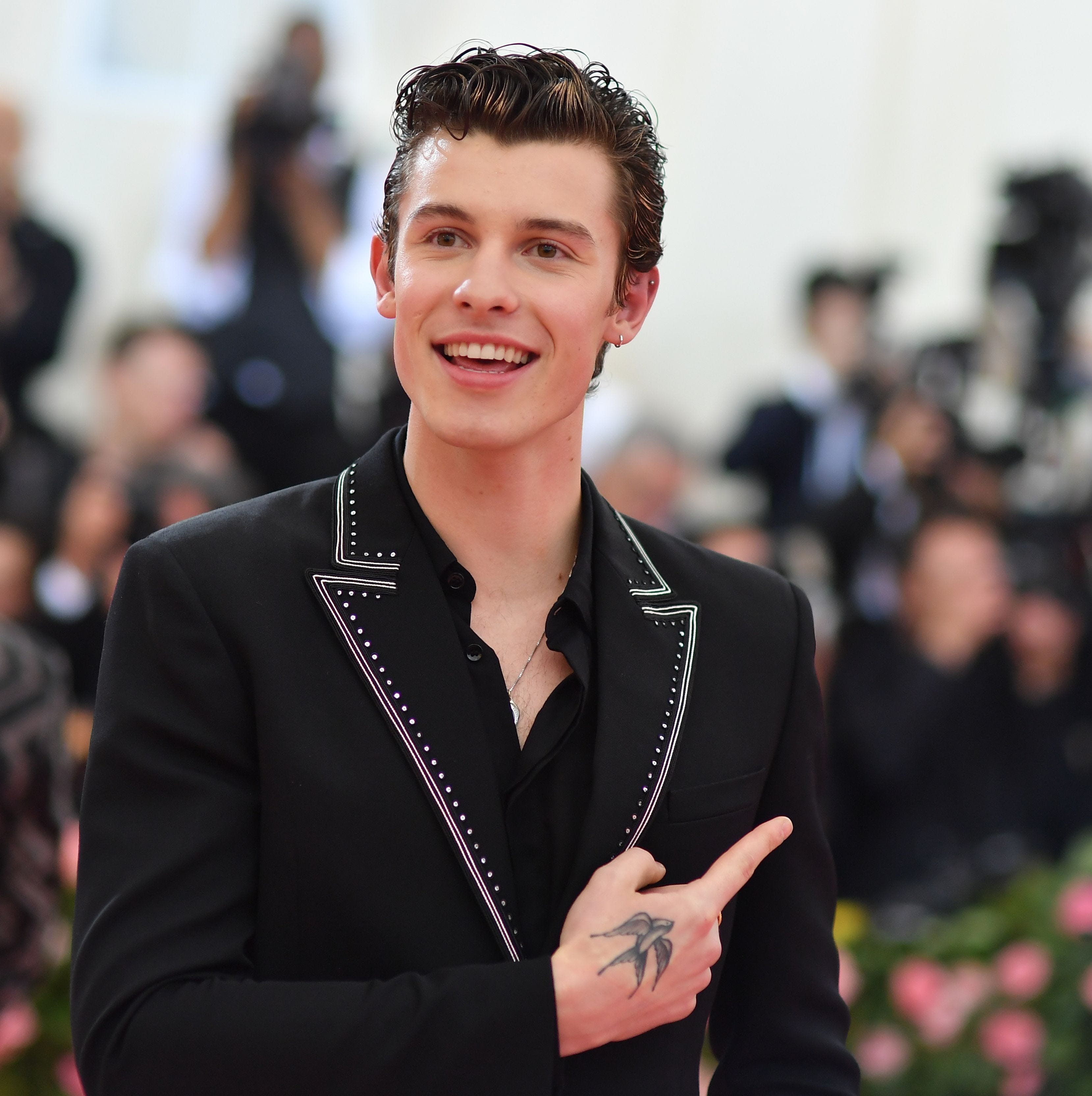 Shawn Mendes arrives for the 2019 Met Gala on May 6, 2019, in New York.
