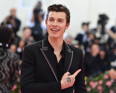 Shawn Mendes' Calvins weren't in evidence at the Met Gala on Monday.