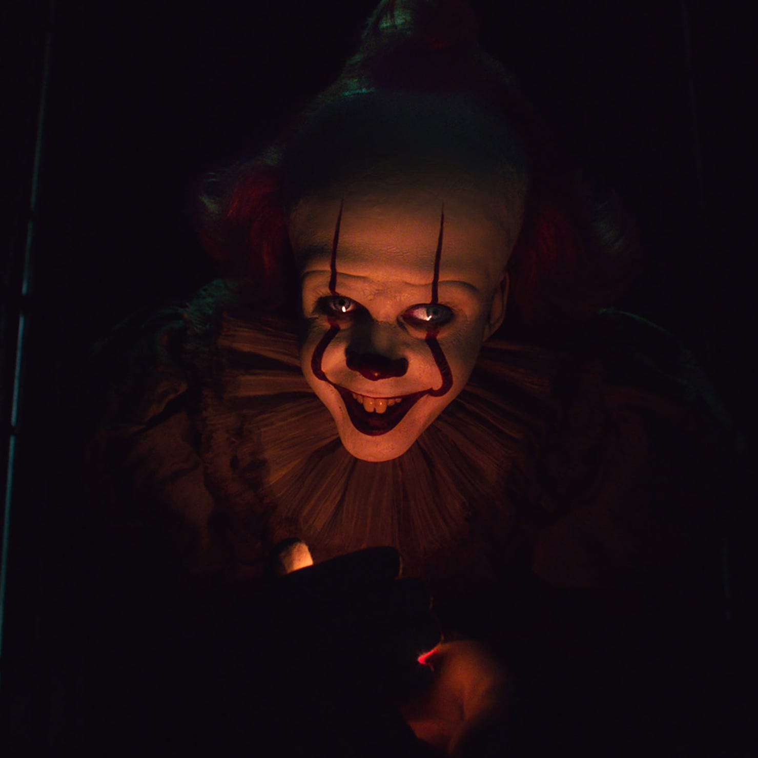 """Pennywise the clown (Bill Skarsgard) returns to haunt Derry again in """"It Chapter Two."""""""