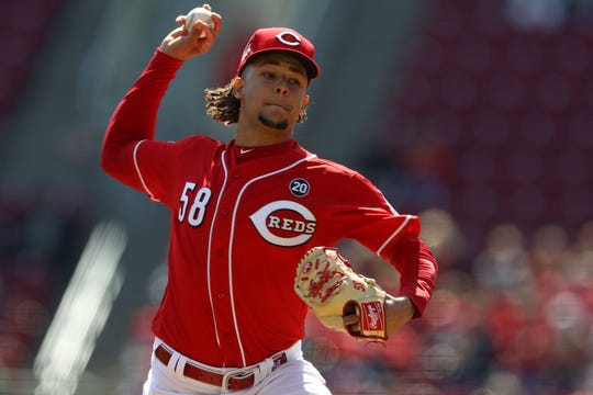 Luis Castillo is 3-1 with a 1.97 ERA this season with the Reds.