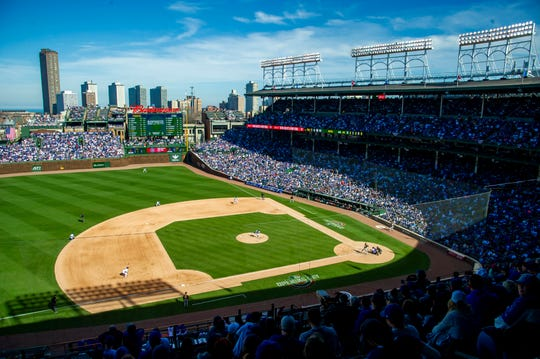 A view of Wrigley Field.
