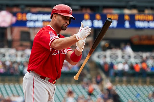 Albert Pujols hit his 2,000th career RBI on Thursday in Detroit.