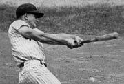 Roger Maris hits home run No. 61 during the 1961 season.