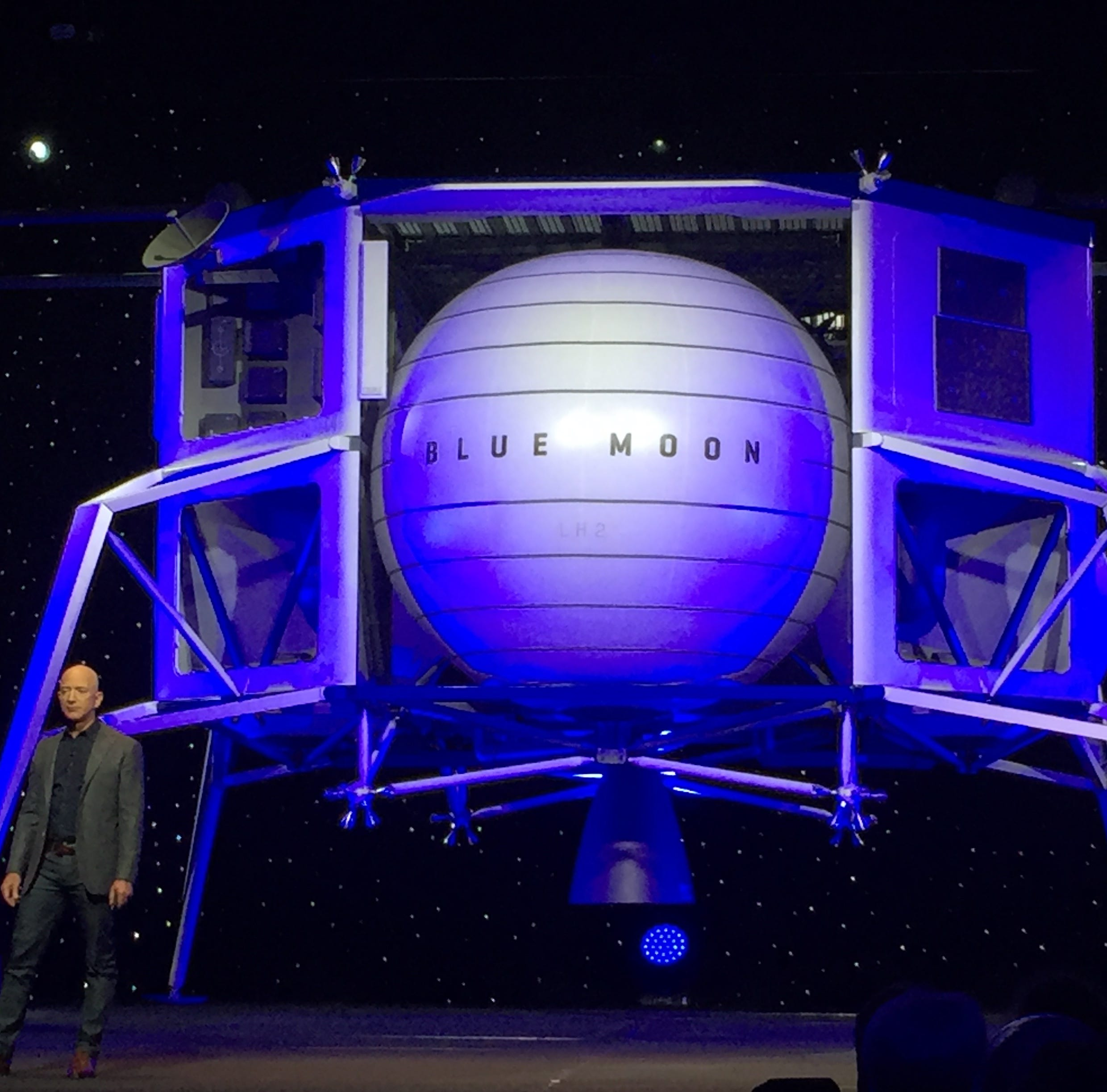 Jeff Bezos unveils Blue Moon, his vision for lunar landing missions