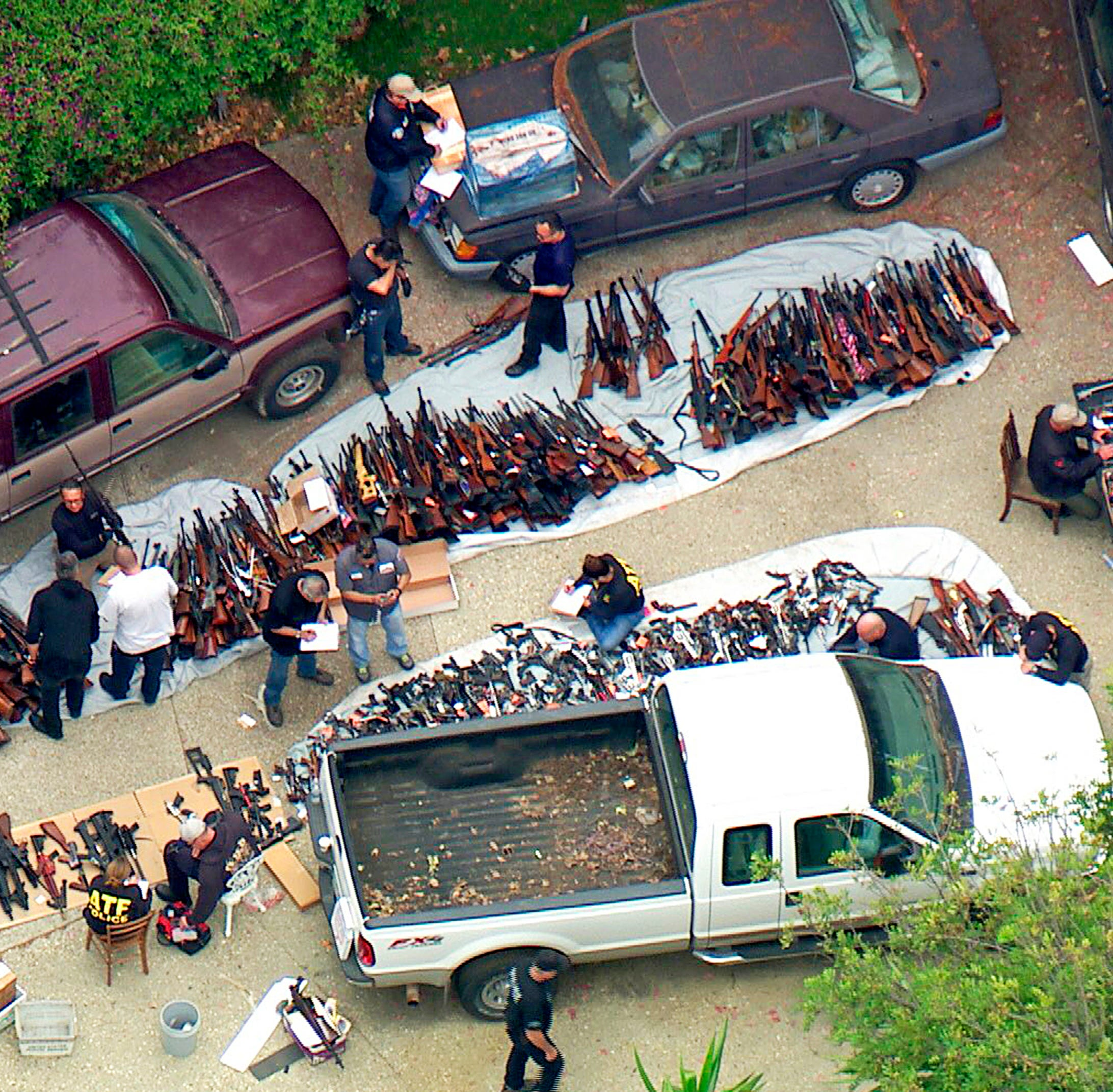 Police in Los Angeles seize more than 1,000 guns at home in posh Bel Air neighborhood