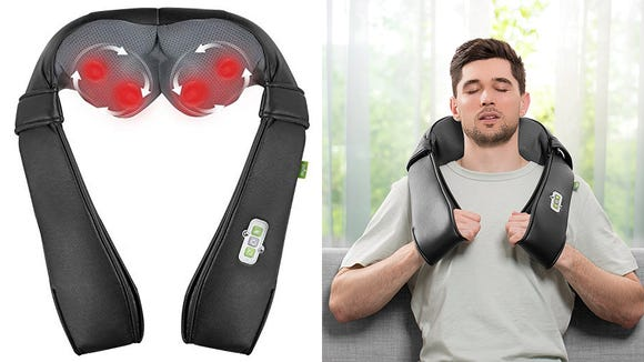 Relax and enjoy the feel of a restorative massage with this at-home massager.