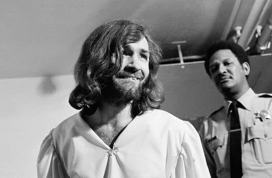 Charles Manson, seen here in 1970, and his cult continue to be of interest in pop culture, 50 years after the Manson Family murders.