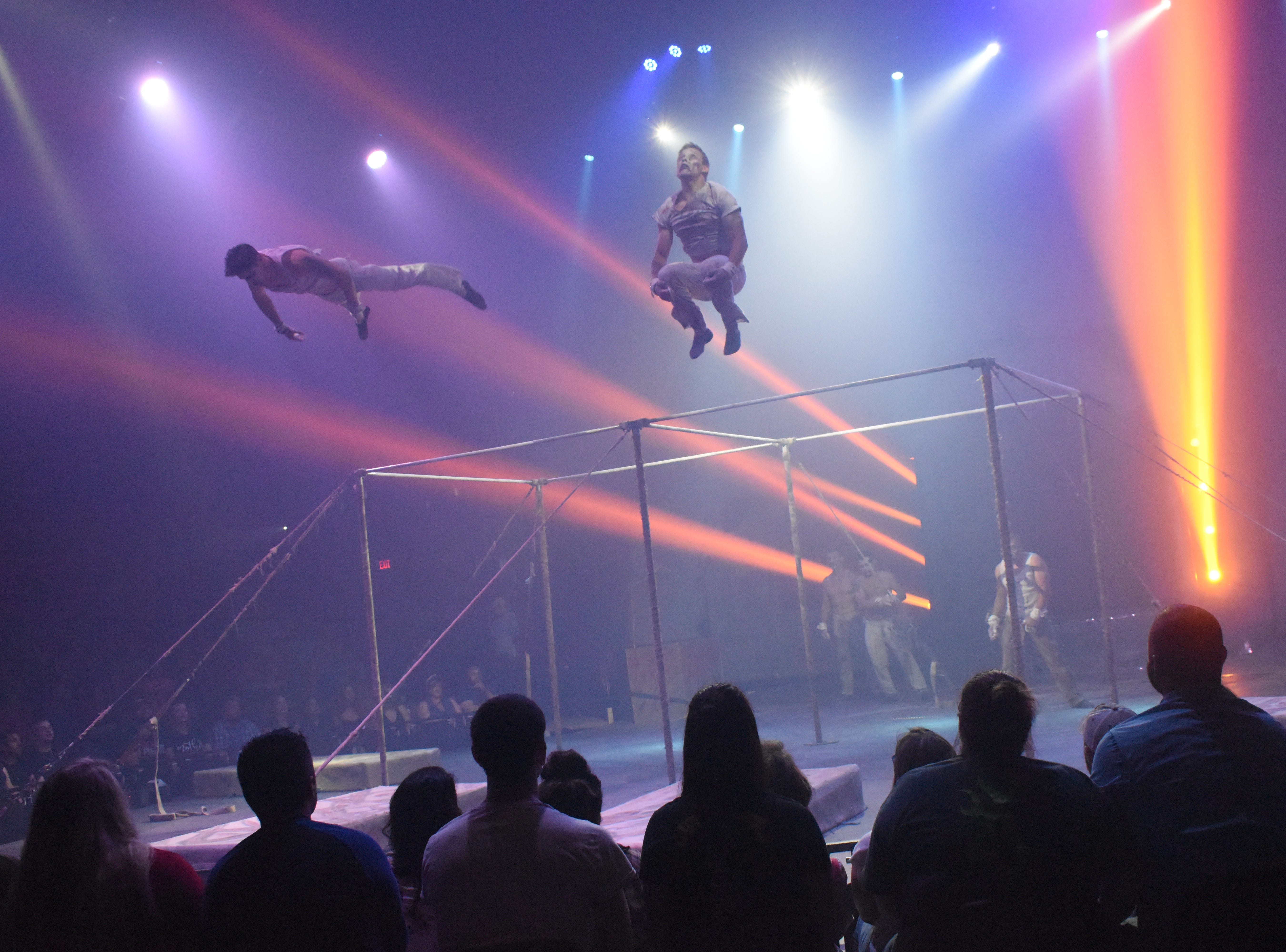 """""""Paranormal Cirque!"""", a presentation of Cirque Italia, opened Thursday, May 9, 2019 in the parking lot of the Alexandria Mall on Masonic Drive. The circus features acrobats, magic, theatrical performances and clowns and has a horror-based theme. Audience members interact with performers in an area that is set up like a horror house prior to entering the main tent for the performance. There is audience interaction during the show as well. The show is geared towards adults and no one under the age of 13 is permitted. Those 13-17 years old must be accompanied by an adult. The theme of """"Paranormal Cirque!"""" has caused controversy with some churches in the area starting a petition to have the Alexandria Mall cancel the performance. Another petition was started by other members in the community for the circus to perform as planned.Performances continue Friday at 7:30 p.m.; Saturday at 6:30 p.m. and 9:30 p.m.; and Sunday at 5:30 p.m. and 8:30 p.m. Ticket prices range from $10-50. For more information visit, www.paranormalcirque.com."""