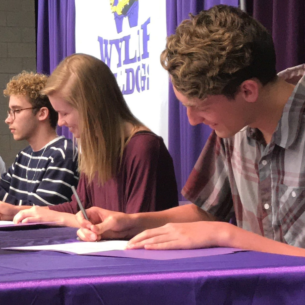 Seven Wylie High School seniors sign fine arts letters of intent