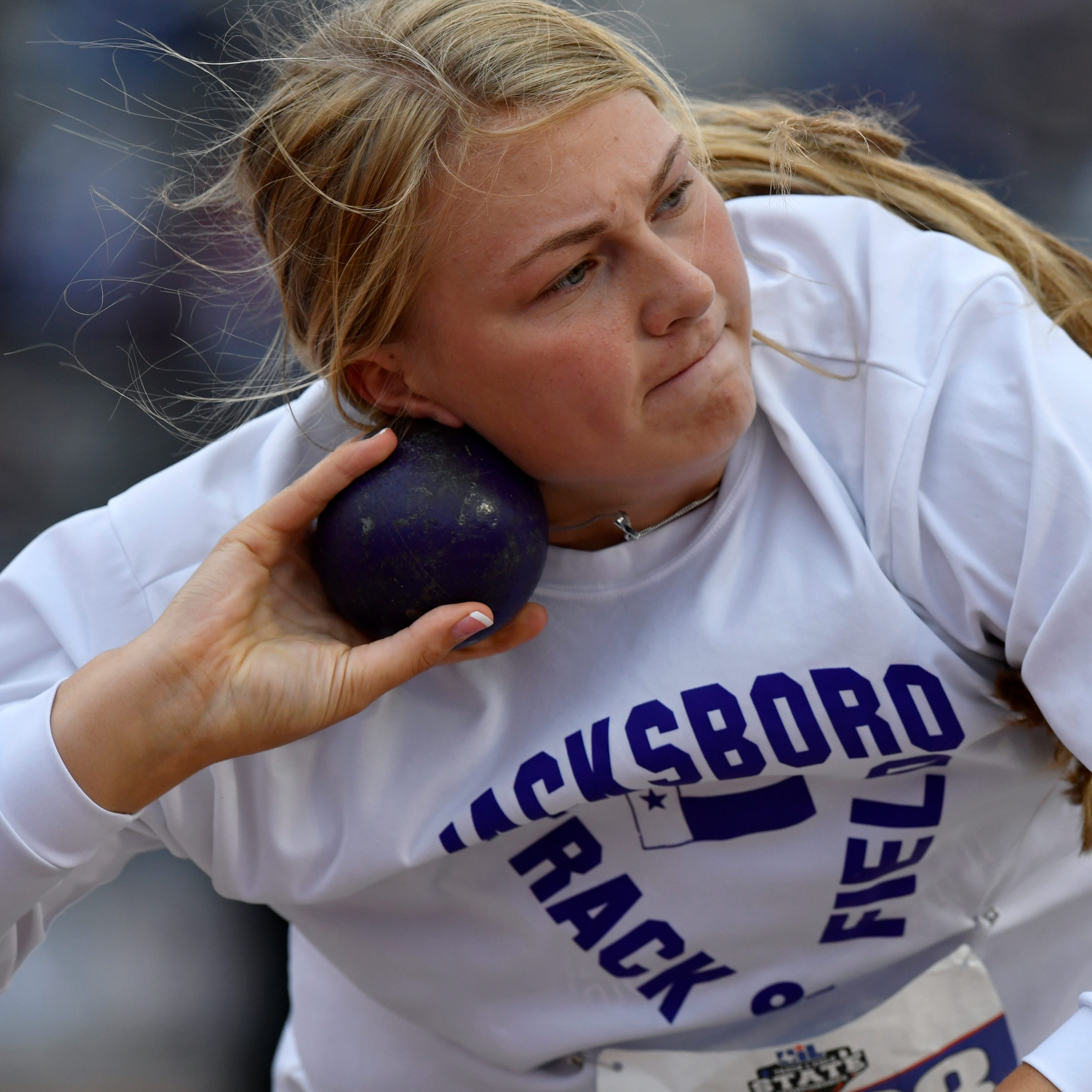 UIL Track: Jacksboro's Thompson repeats as shot champ; Bryson's Orr, Holliday's Spears medal