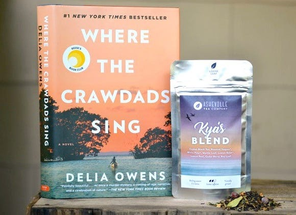 "Kya's Blend is a limited-run tea by Asheville Tea Co., made of native North Carolina plants, in conjunction with the publisher of ""Where the Crawdads Sing."""
