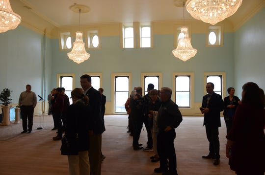 A former ballroom on the third floor of a downtown Marshall building is being restored.