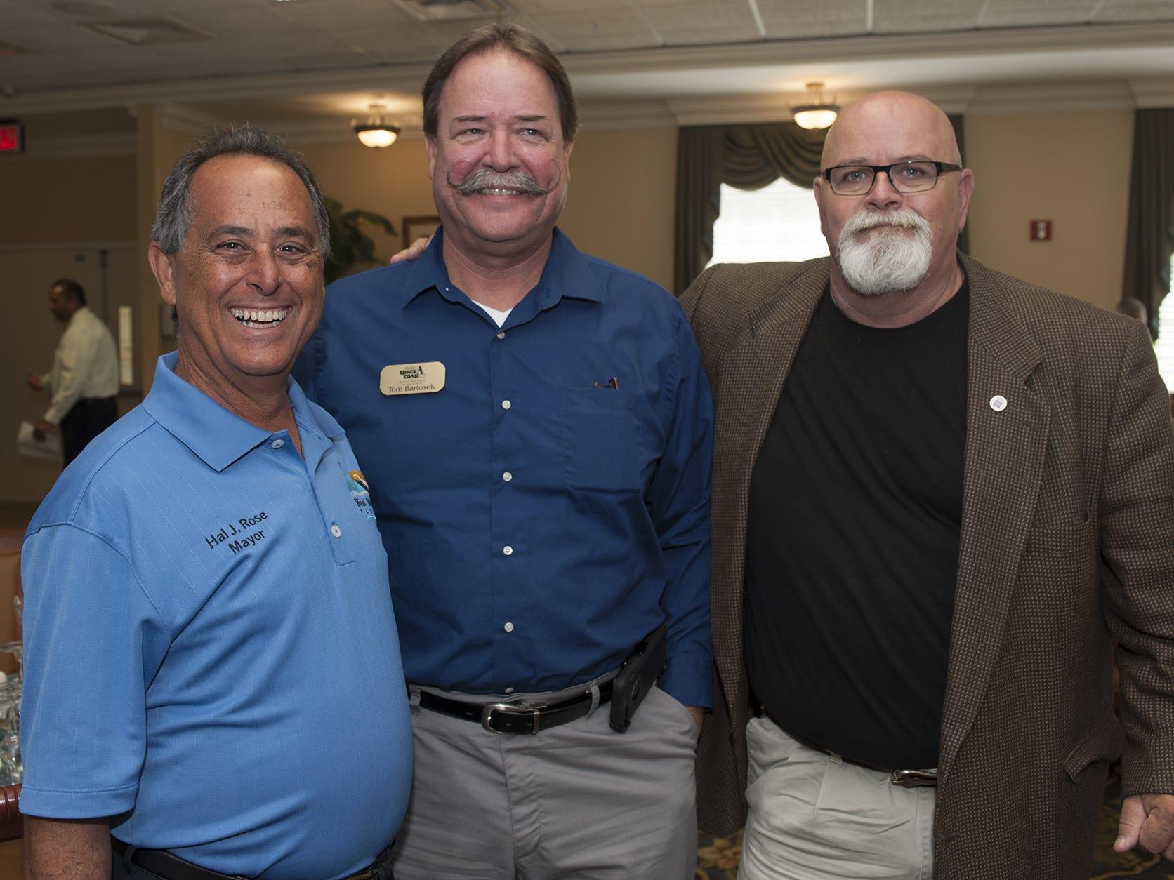 2016 file photo shows West Melbourne Mayor Hal J. Rose, left, Tom Bartosek and Dave Isnardi.