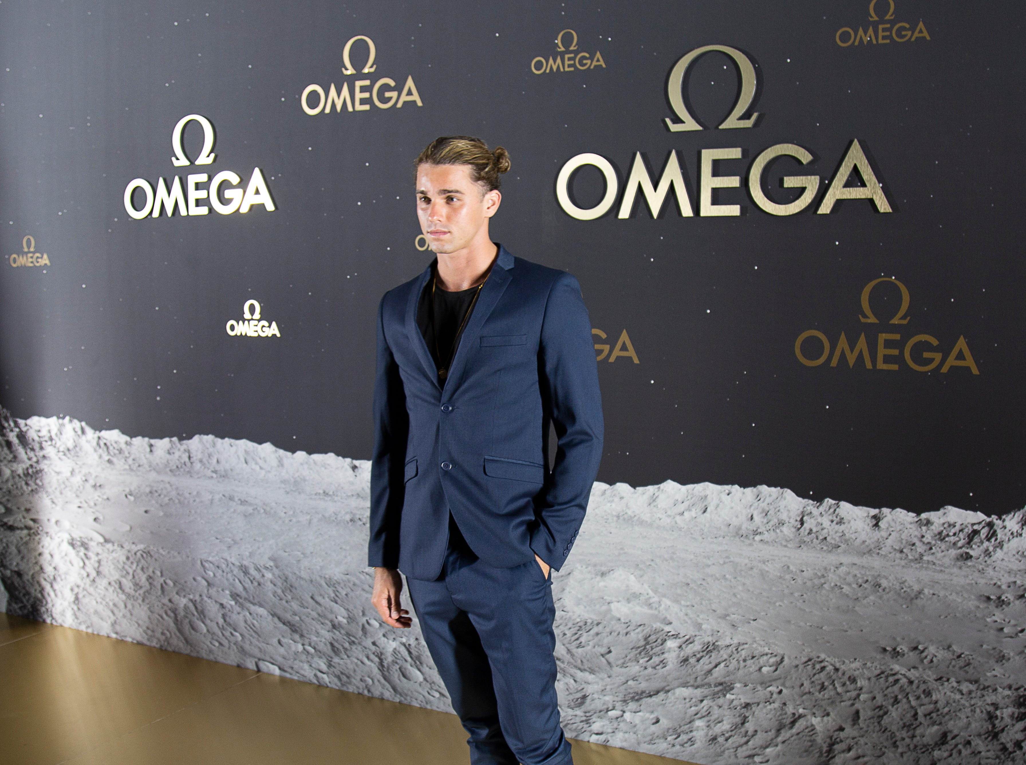 Social media influencer Jay Alvarrez (6 million followers on Instagram and counting). Swiss watch brand Omega, which accompanied Apollo 11 astronaut Buzz Aldrin when he walked on the moon's surface nearly 50 years ago, hosted an event honoring the 50th anniversary of the moon landing at the Apollo/Saturn V Center at Kennedy Space Center. George Clooney and Amal Clooney, as well as former astronauts Thomas Stafford and Charles Moss Duke, attended.