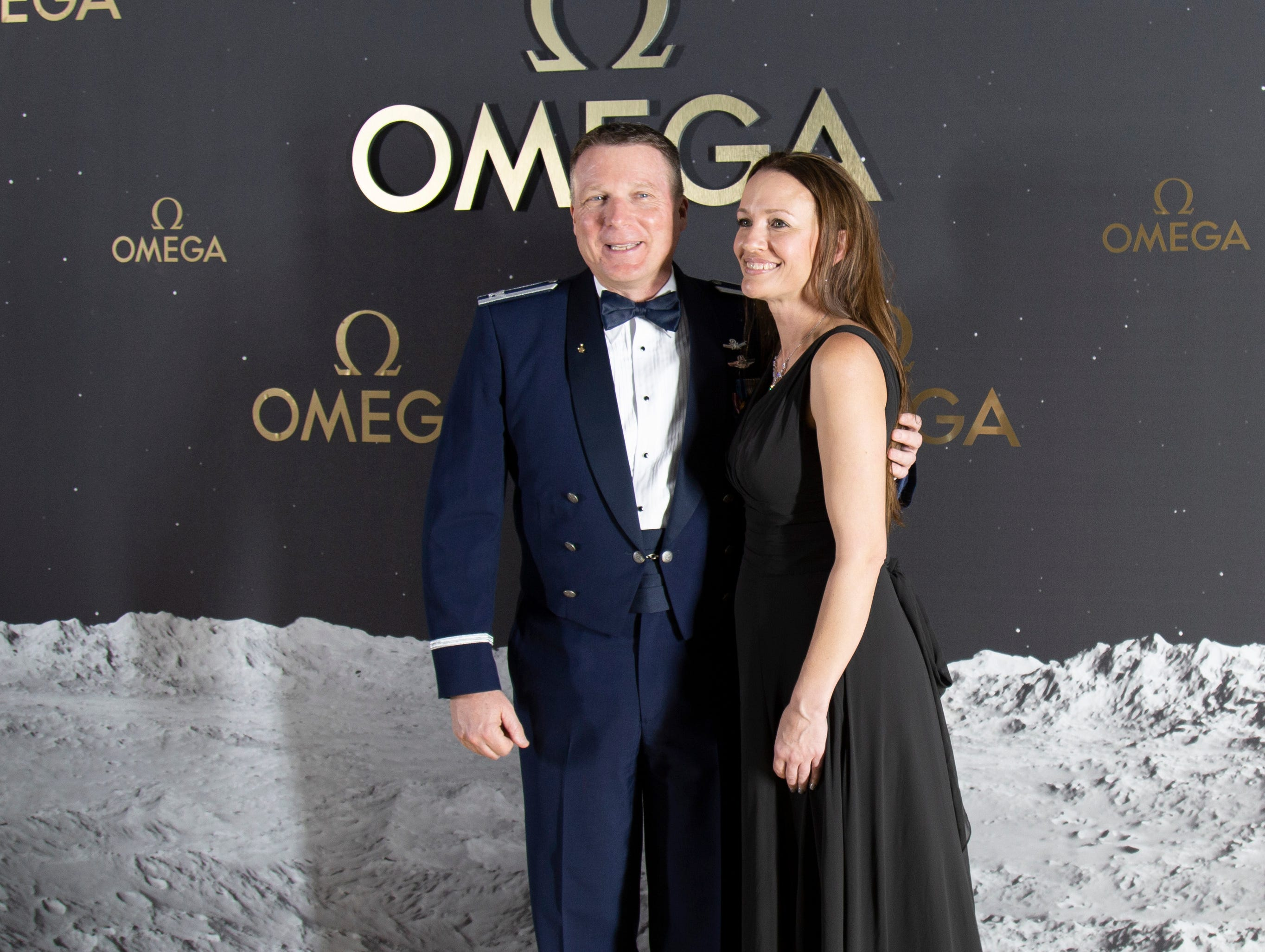 The Swiss watch brand Omega, which accompanied Apollo 11 astronaut Buzz Aldrin when he walked on the moon's surface nearly 50 years ago, hosted an event honoring the 50th anniversary of the moon landing at the Apollo/Saturn V Center at the Kennedy Space Center. Those who attended the black-tie dinner included actor George Clooney and Amal Clooney, as well as former astronauts Thomas Stafford and Charles Moss Duke.
