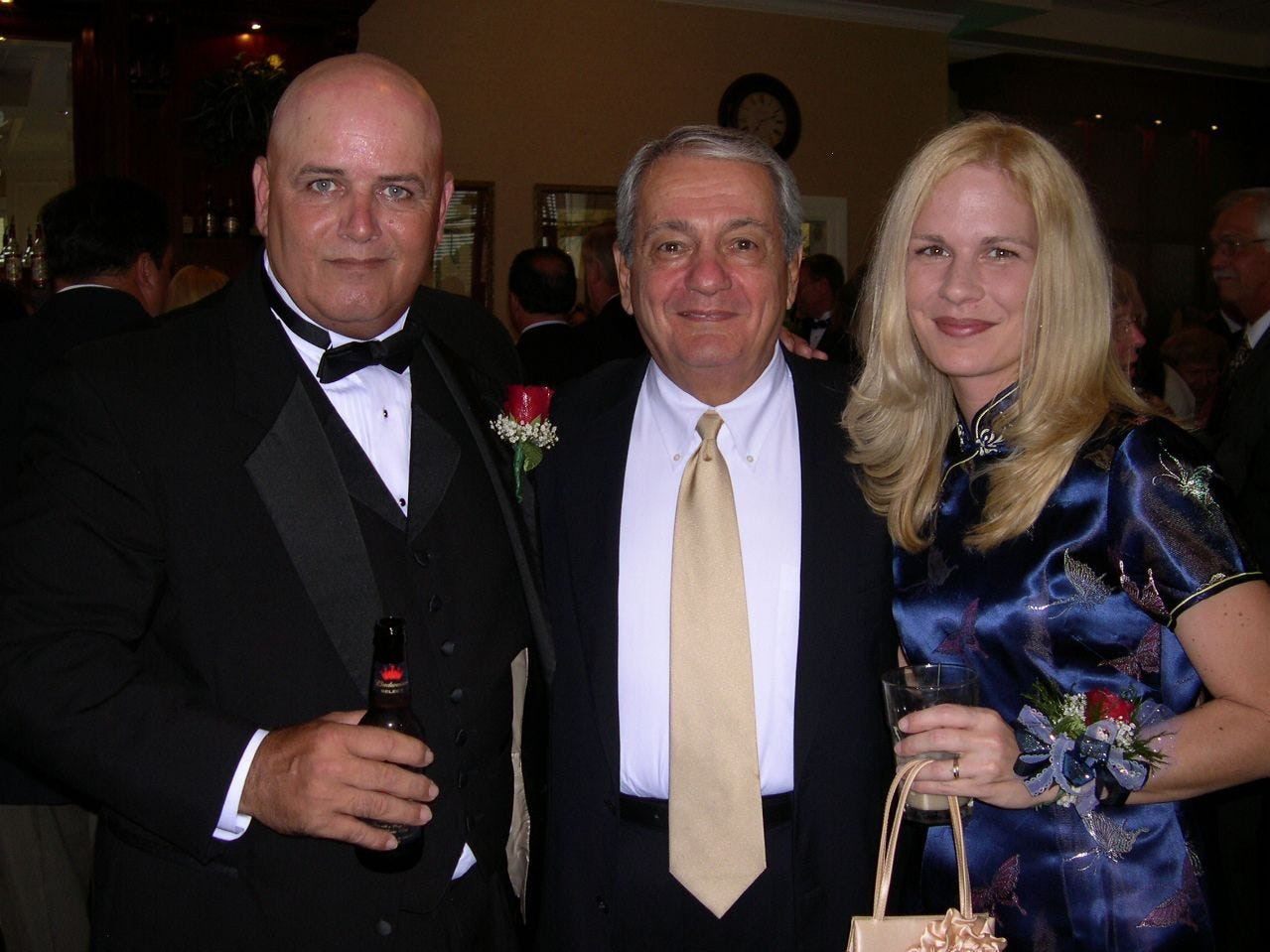 At the 2007 Palm Bay Mayor's Benefit Ball: David Isnardi/Palm Bay, left, Nick Tsamoutales/Palm Bay, and Kristine Isnardi/Palm Bay.